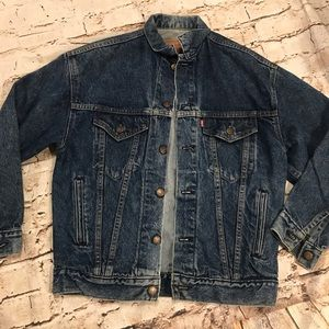 Vintage Levi's Denim Trucker Jacket . Men's Large